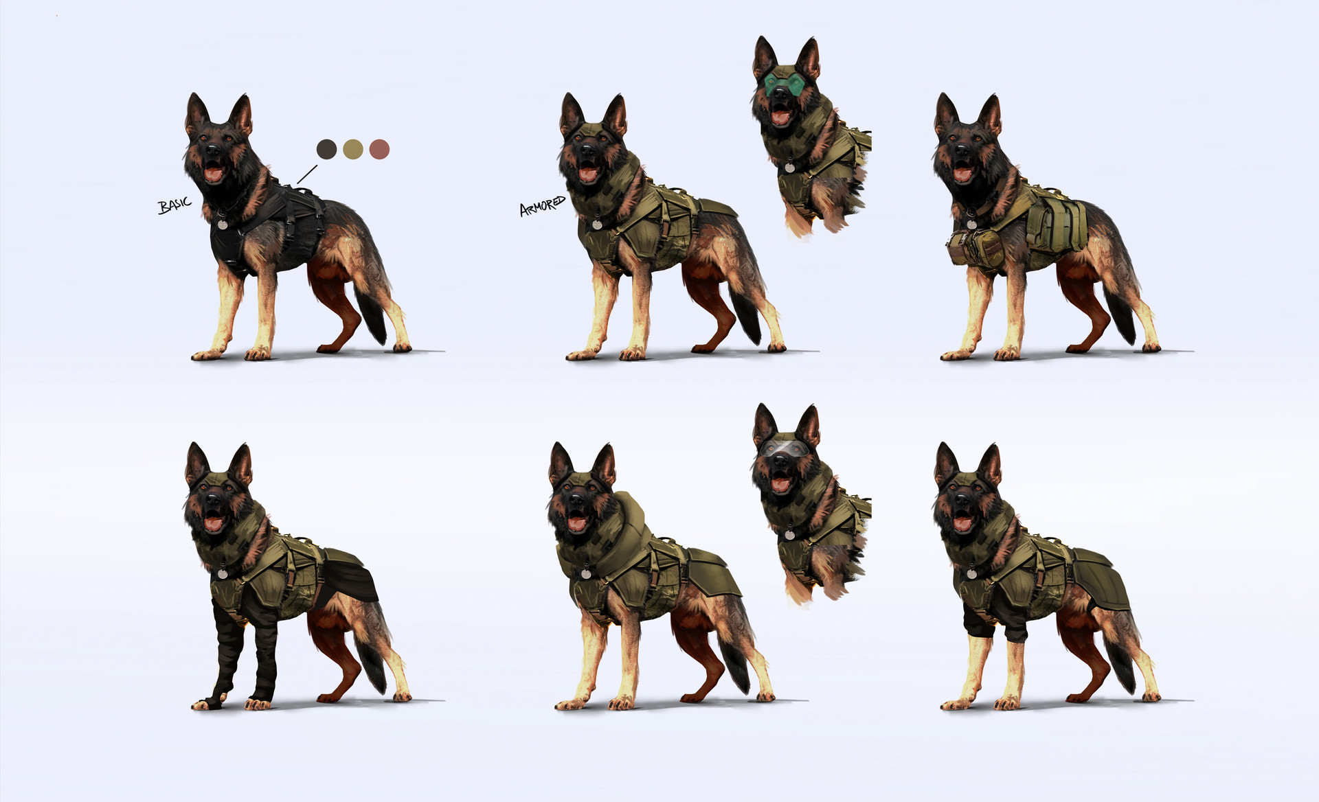 Military Dog Concept